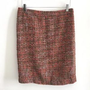 J Crew Factory The Pencil Skirt Brown Textured 8